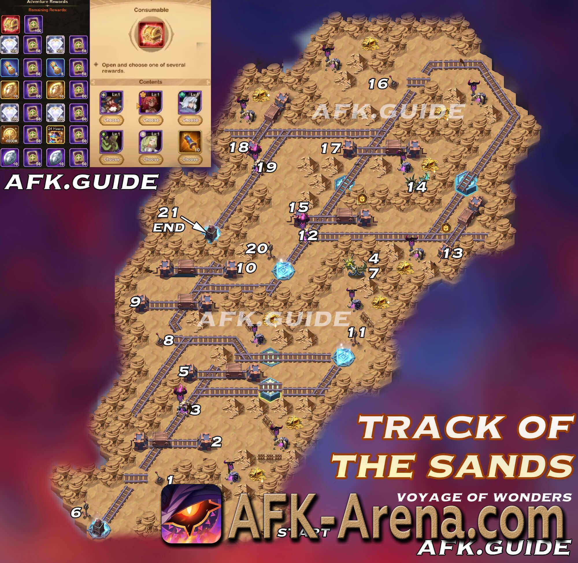 AFK Arena - прохождение путешествия Каменные поля - GuidesGame
